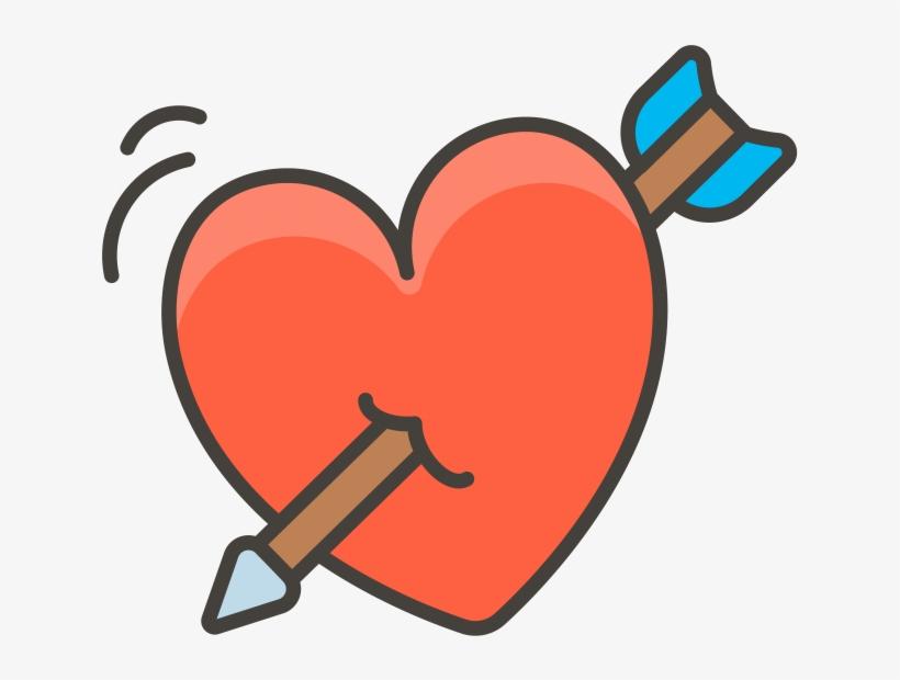 Heart With Arrow Emoji - ลูก ศร หัวใจ Png, transparent png #10102857