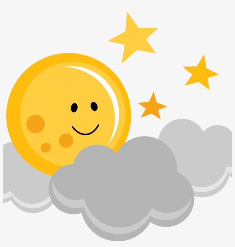 Cloud And Moon Cartoon, transparent png #10103355