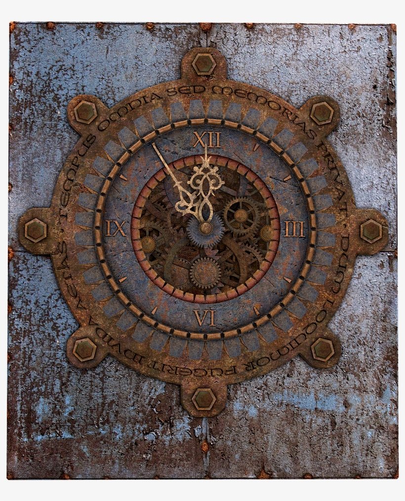 Clock Old Clock Steampunk Metal Png Image - Steampunk Wall Clock Free, transparent png #10108428