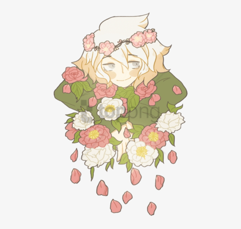 Free Png Flower Crown Tumblr Png Png Image With Transparent - Komaeda Flowers Art, transparent png #10109326