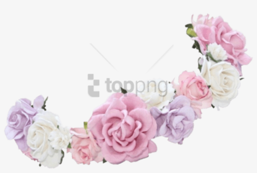 Flower Crown Transparent Overlay Png Image With Transparent - Transparent Background Transparent Pretty Flower Crown, transparent png #10112906