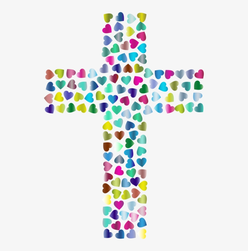 Christian Clip Art Christian Cross Christianity Crucifix - Hearts And Cross, transparent png #10115215