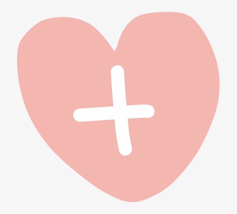 File - Pinkheart - Cross, transparent png #10115275