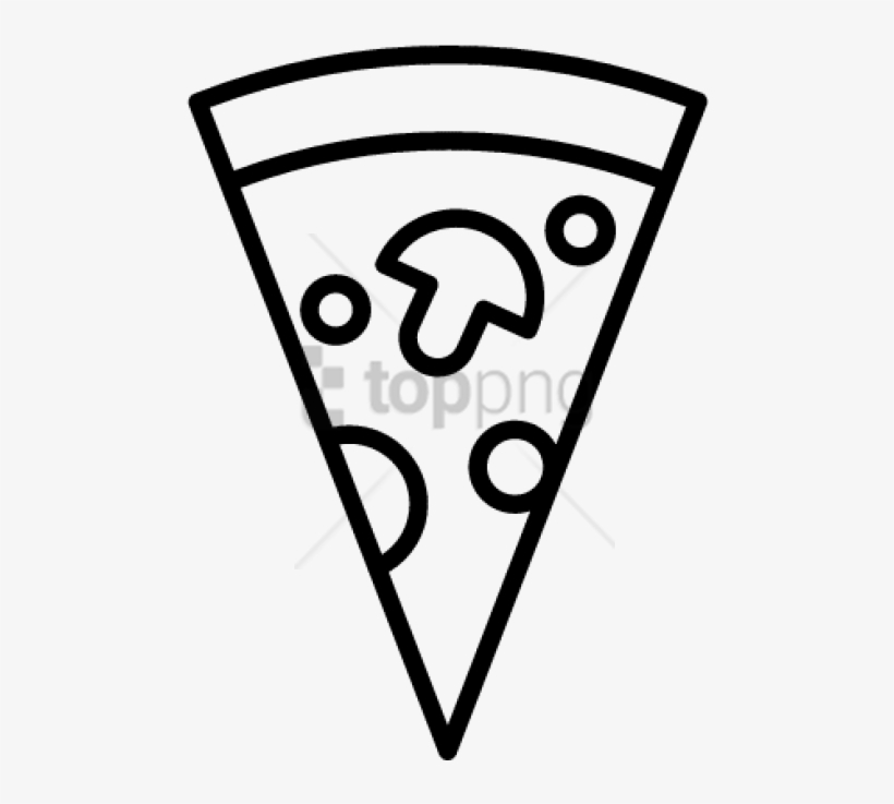 Free Png Pizza Slice Icon Png Image With Transparent - Vector Pizza Slice Png, transparent png #10115359