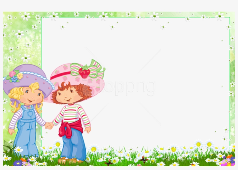 Free Png Frame With Strawberry Shortcake And Friend - Strawberry Shortcake Border Design, transparent png #10116029