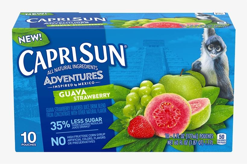 Guava Strawberry - Capri Sun Fruit Punch, transparent png #10116692