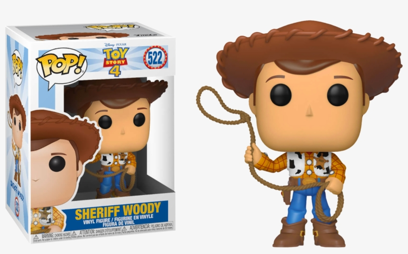 Disney/pixar Toy Story Sheriff Woody Funko Pop Vinyl - Funko Pop Toy Story 4, transparent png #10118010