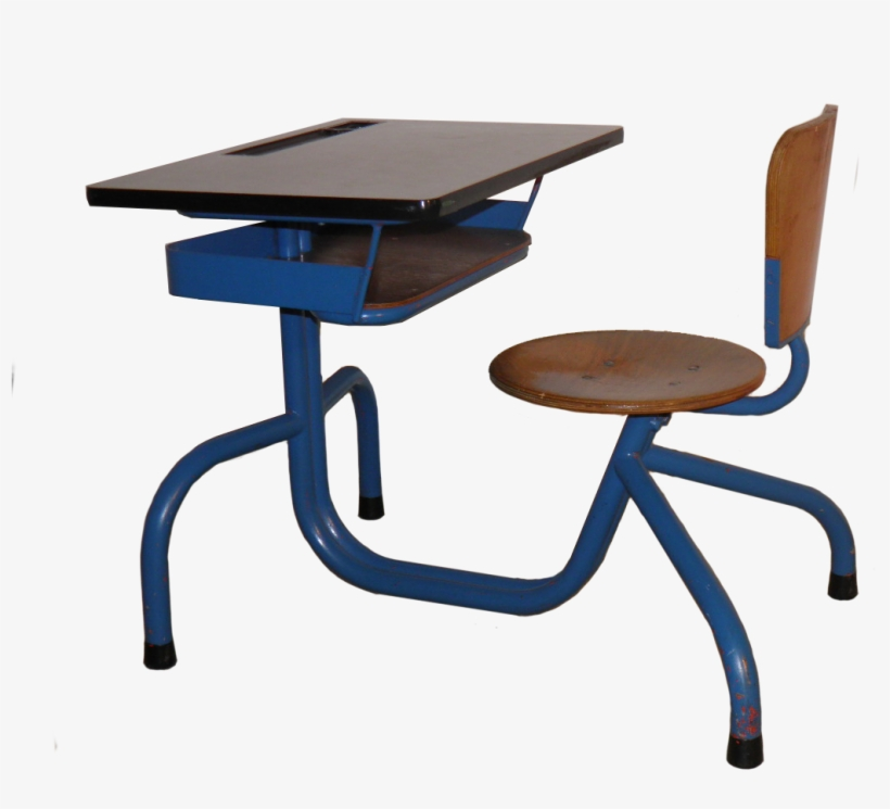 School Desk On Hold - End Table, transparent png #10125035
