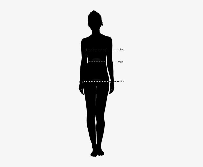 Size Guide Woman En Us - Woman Silhouette Size Guide, transparent png #1021552