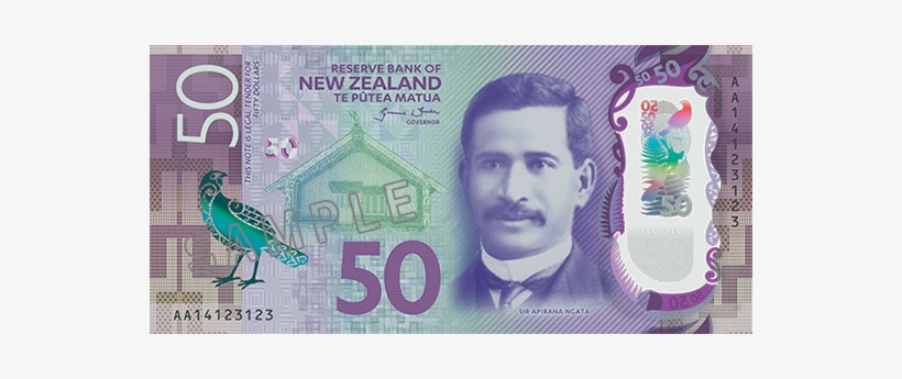 New Zealand 20 Dollar Back - New Zealand 50 Dollar Note, transparent png #1021742
