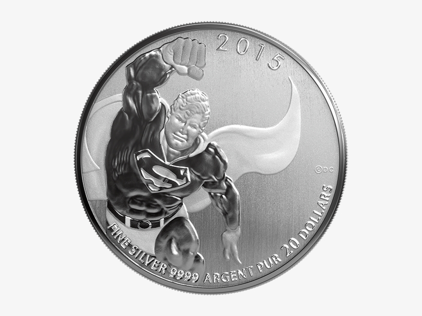 Fine Silver Coin - Canadian Silver Superman Coin, transparent png #1022225