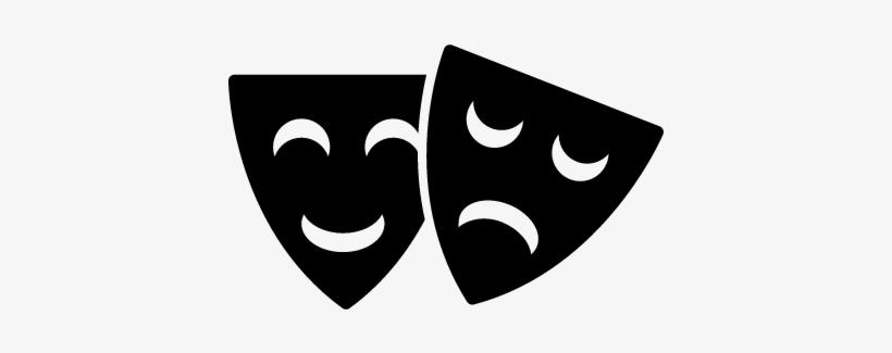 Happy And Sad Theater Masks Vector - Caretas Teatro - Free