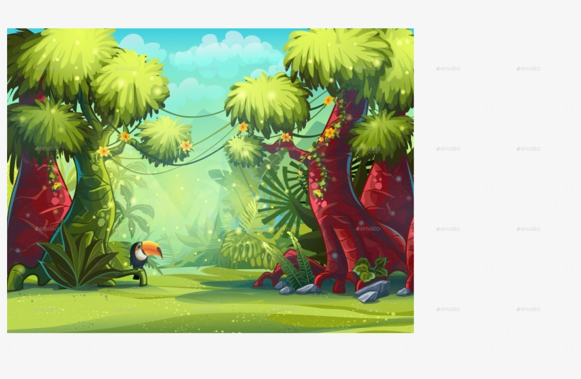 Png/illustration Boot Screen To The Computer Game Jungle - Transparent Jungle Cartoon Background, transparent png #1024918