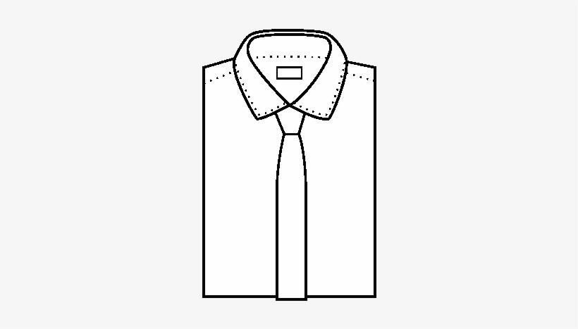 Dibujo De Camisa Con Corbata Para Colorear - Dibujo De Camisa Con Corbata, transparent png #1024991