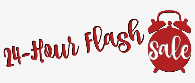 24 Hour Flash Sale Ends Tonight Save 20% On Select - Flash Sale Banner 24 Hr, transparent png #1025152