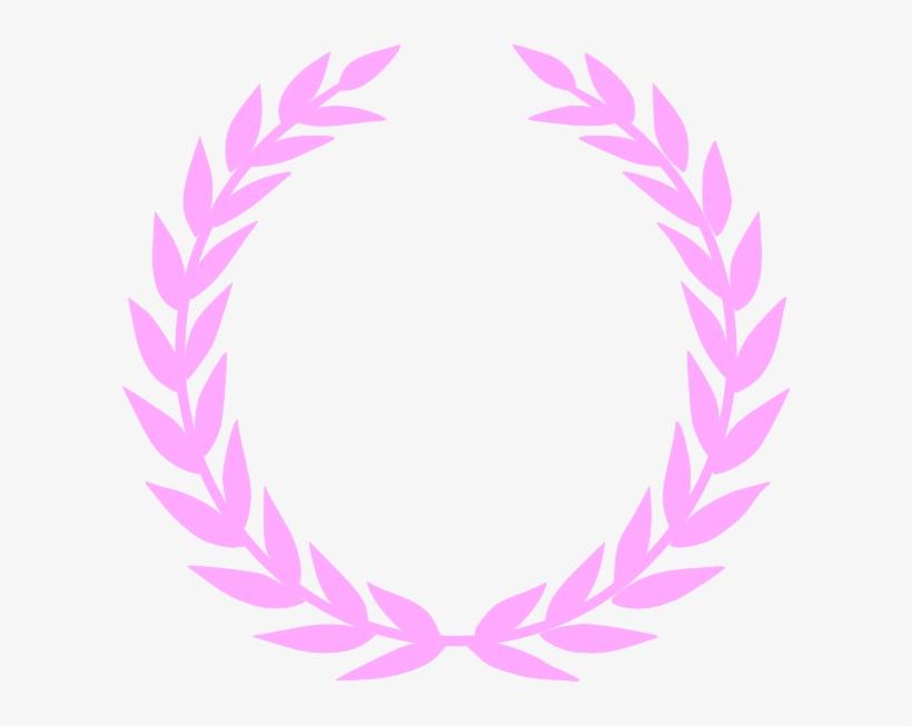 Laurel Pink Wreath Clip Art At Clker - Pink Laurel Wreath, transparent png #1026960