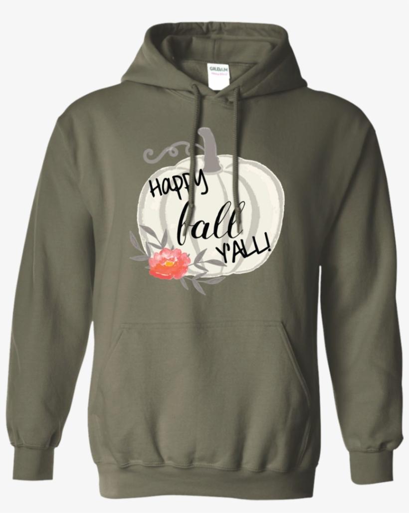 Happy Fall Y'all Watercolor Pumpkin Hoodie Sweatshirt - Paratrooper Earned - Custom Year, transparent png #1028101