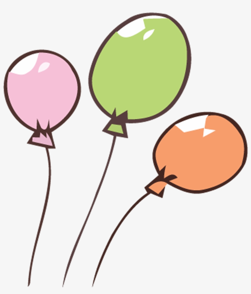 Scarce Balloon Pictures To Color Cartoon Speech Colored - Globos De Colores Animados, transparent png #1028165