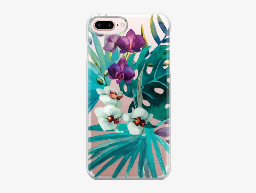 Bring The Tropics Into Your Home Or Office With This - Cafepress Watercolor Flowers Iphone 7 Plus Tough Case, transparent png #1029443