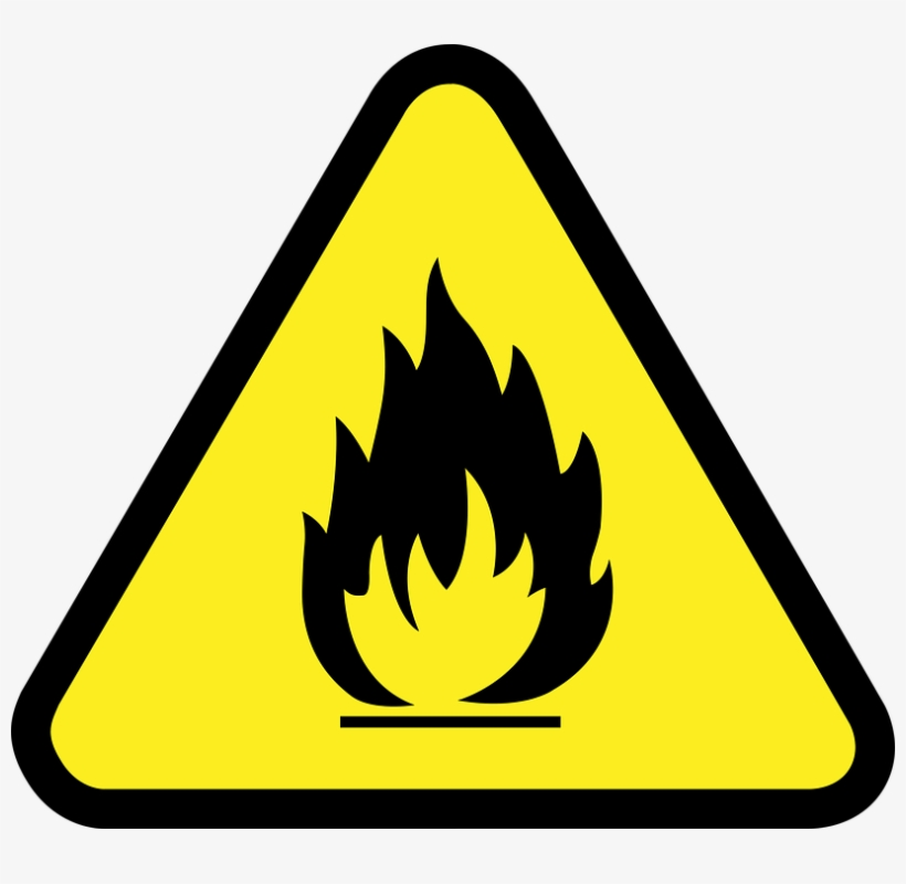 A Local Man Was Injured In A Flash Explosion From The - Flammable Symbol, transparent png #1029466