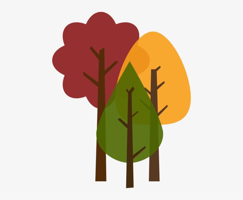 Graphic Trees Clip Art At Clker Com Vector - Clip Art Fall Tree, transparent png #1029758