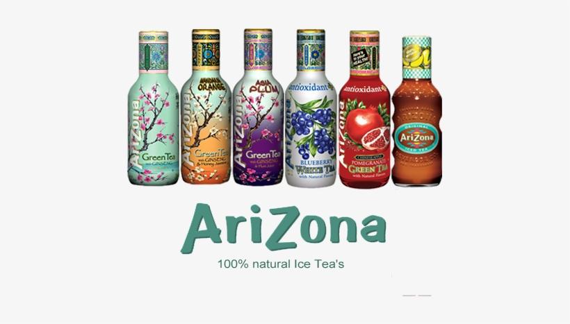 Arizona Tea Collection - Arizona Green Tea, With Ginseng And Honey - 16 Fl Oz, transparent png #1030275