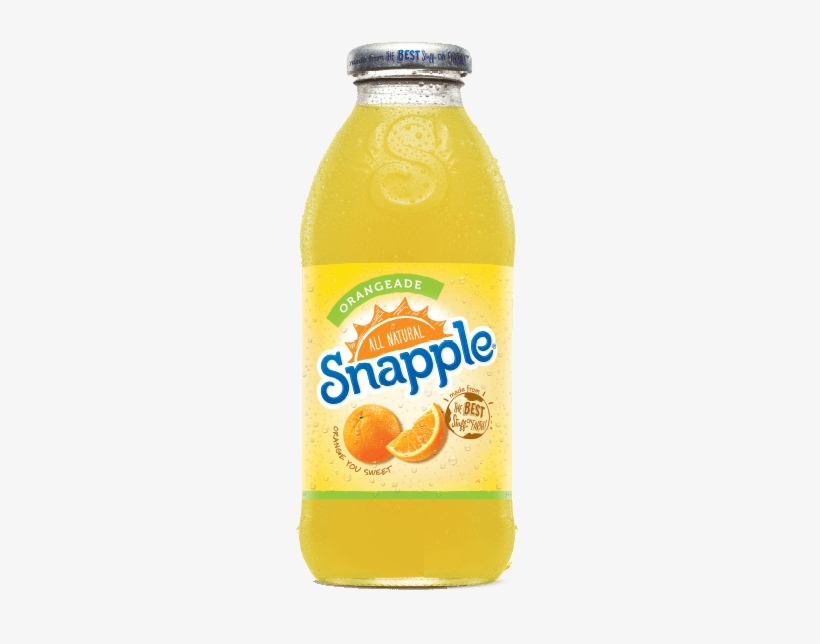 Arizona Tea Lemonade 23 Oz Big Cans Pack Of 24 Snapple - Snapple Juice Drink, Orangeade - 16 Fl Oz Bottle, transparent png #1030750