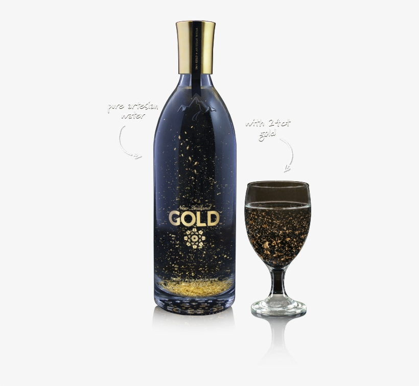 New Zealand Gold Artesian Water - Gold Flake Water, transparent png #1030821
