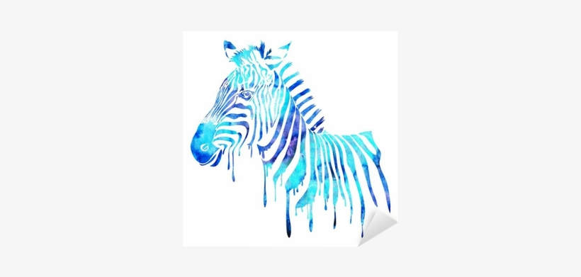 Watercolor Zebra Head - Watercolor Animals Abstract, transparent png #1031191