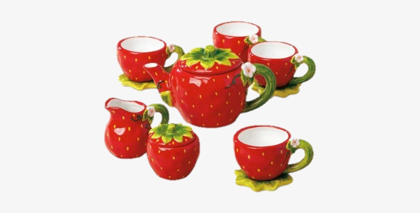 Strawberry Tea Set, transparent png #1032323