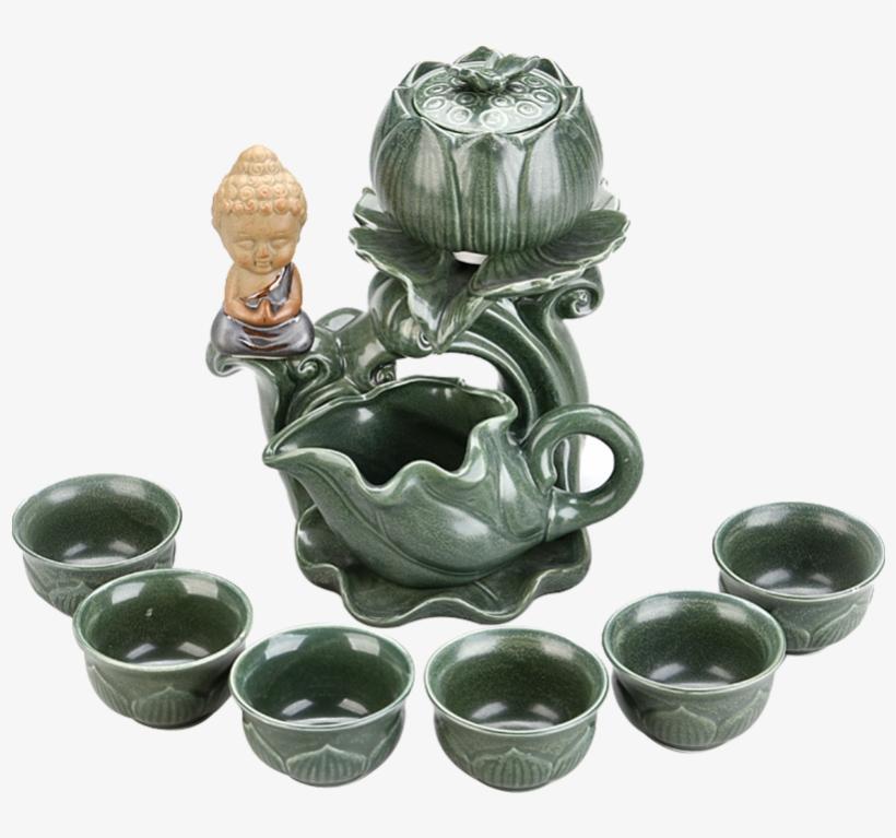 Yang Yang Semi-automatic Kung Fu Tea Set Home Ceramic - Ceramic Knife, transparent png #1033430