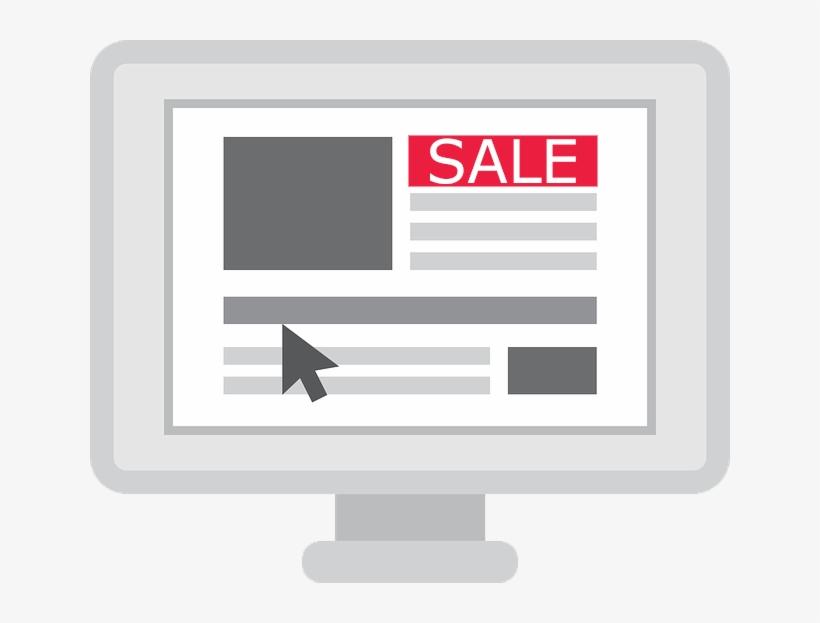 Sale Banner On Computer - Computer, transparent png #1033781