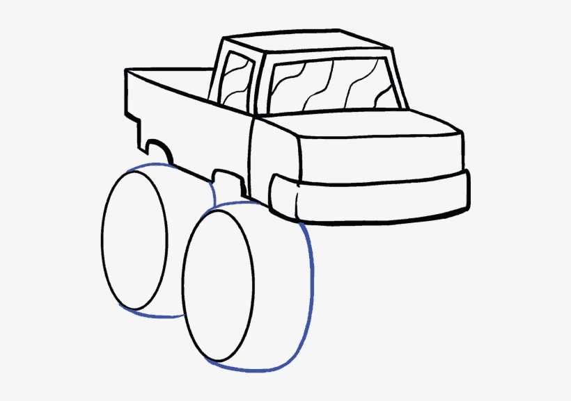 How To Draw A Monster Truck In A Few Easy Steps - Dibujar Carro ...