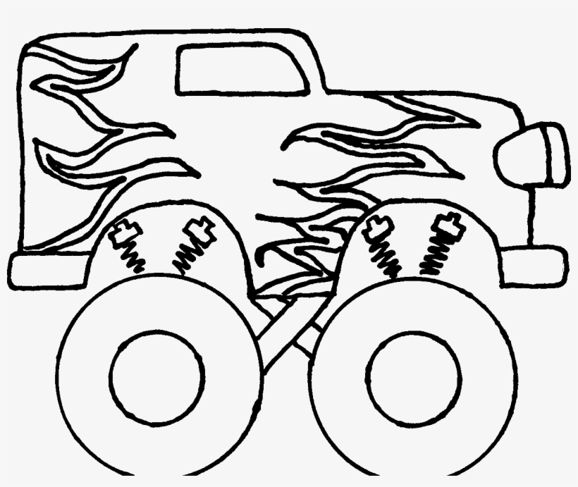 Monster Truck Clipart Black And White Free Monster Truck Easy To Draw Free Transparent Png Download Pngkey