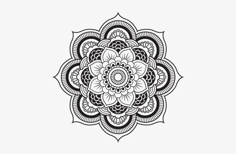 Coloriage De Mandala Fleur Oriental Pour Colorier Png Mandala Png