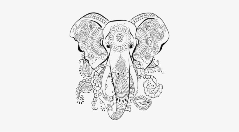 Vector Elephant Mandala - Dibujos Para Colorear Adultos, transparent png #1035446