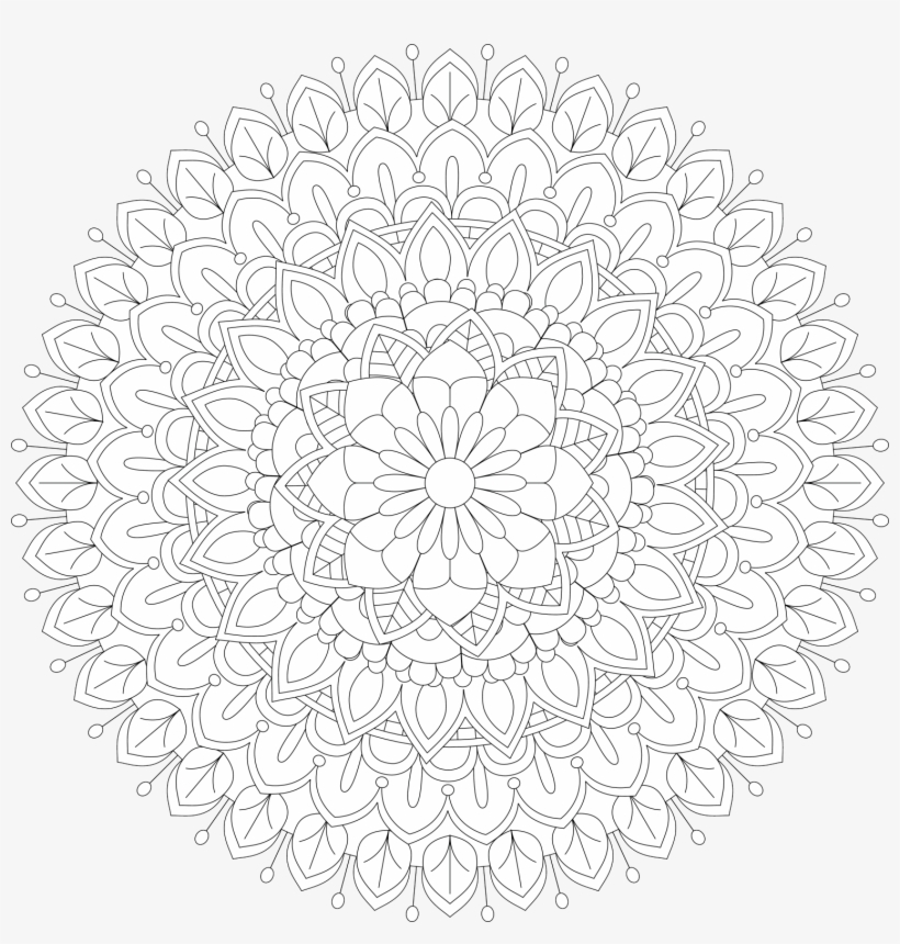 Mandala Vector Tattoo Perfect Cards For Any Other Kind - Sad Face Flower, transparent png #1035726