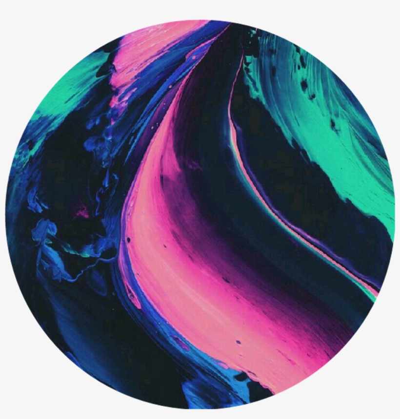 Circle Tumblr Aesthetic Overlay Paint Black Blue Pink Free Transparent Png Download Pngkey