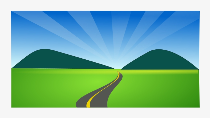 Country Side By Netalloy A Coutry Side With A Road - Country Road Clip Art, transparent png #1036363