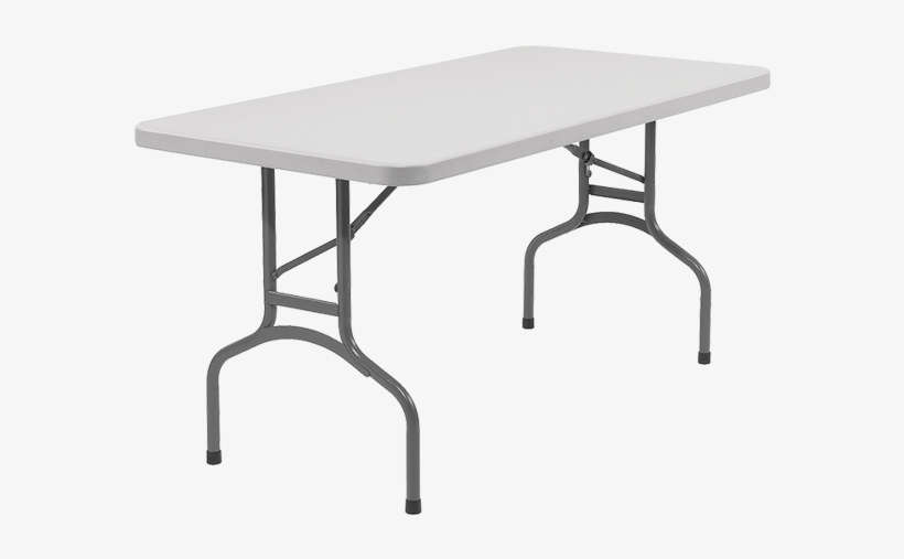 6' Rectangular Table - Plastic Fold Up Table, transparent png #1036772