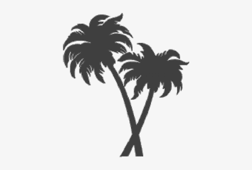 Fired Up Tiles Trees - Two Palm Trees Clipart, transparent png #1037240