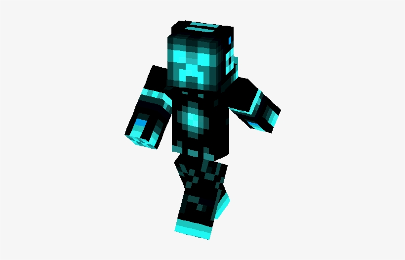 Cool Images Of A Minecraft Creeper Minecraft The Humanoid Minecraft Ice Armor Skin Free Transparent Png Download Pngkey