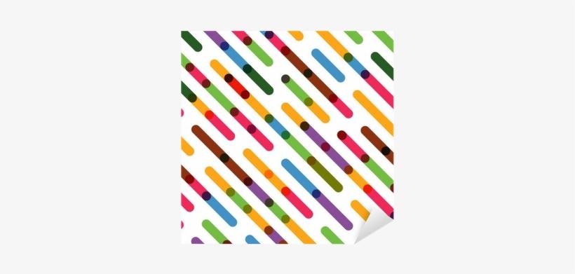 Flat Colorful Diagonal Lines - Colorful Diagonal Lines, transparent png #1040543