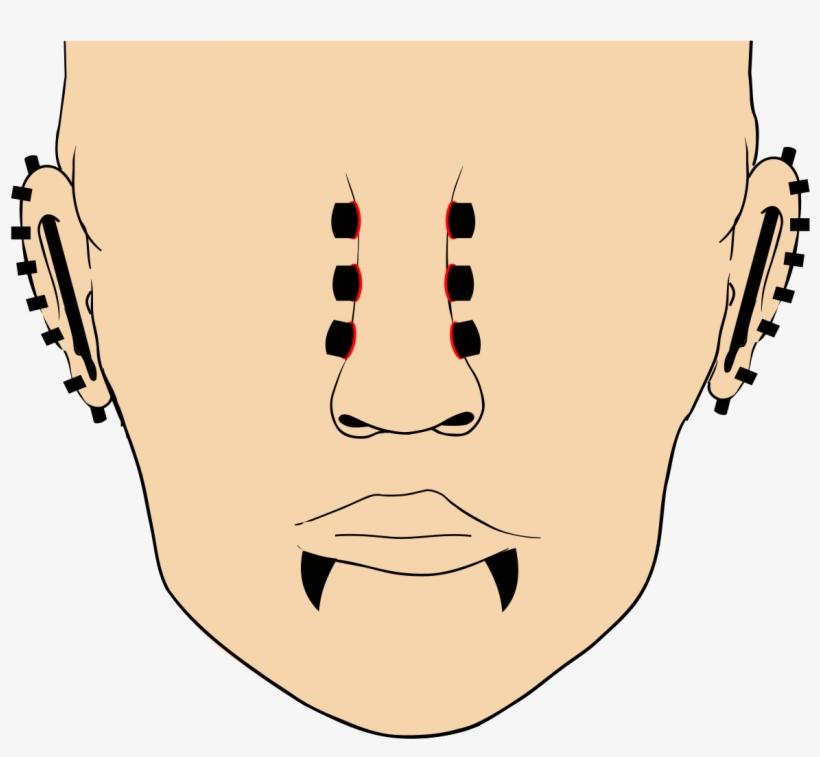 File Piercing Tendo Svg Piercing Pain Naruto Free Transparent Png Download Pngkey