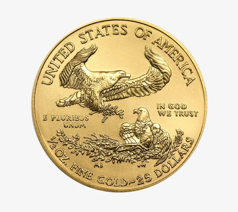 1/2 Oz American Eagle Gold Coin Front - American Eagle Gold 2018 1 10 Oz, transparent png #1041848