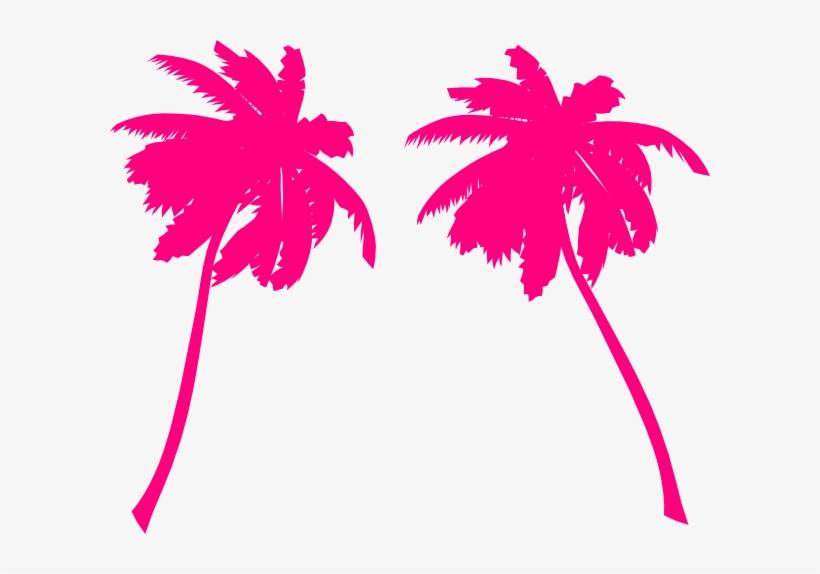 Palm Clip Art At Clker Com Vector - Pink Palm Trees Png, transparent png #1042042