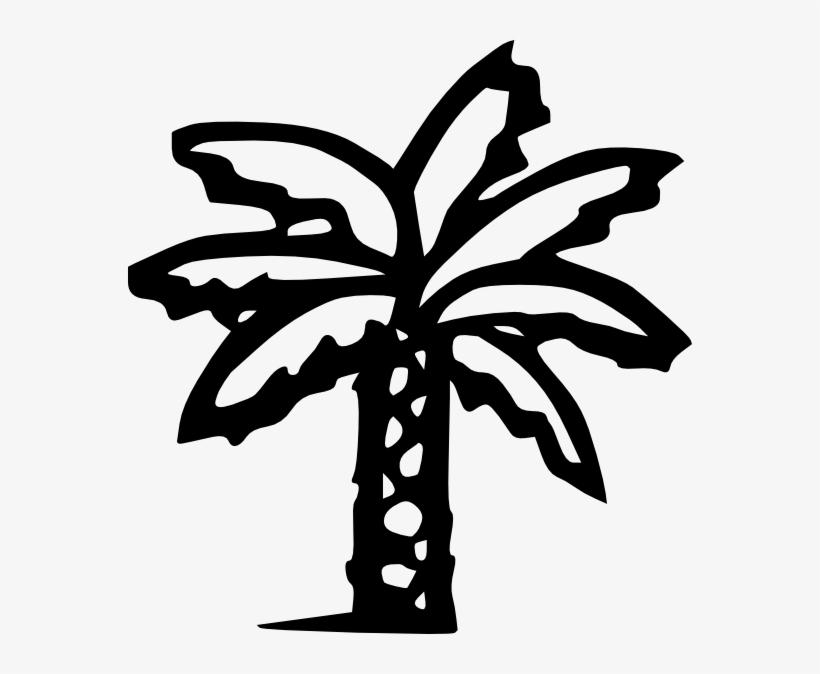 Free Vector Palm Tree Clip Art - Palm Tree Clip Art Black, transparent png #1042595