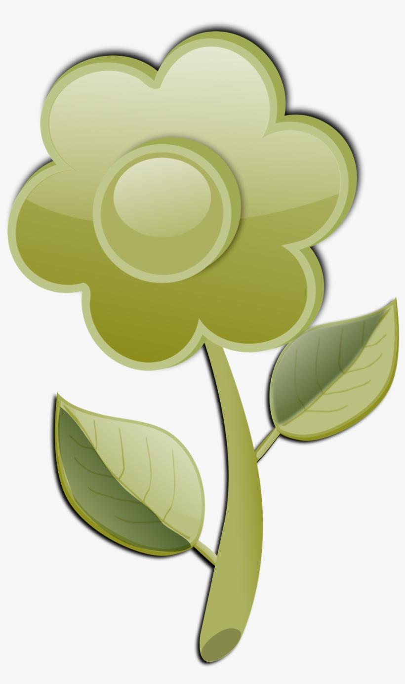 Free Stock Photo - Flor Con Tallo En Vector, transparent png #1042965