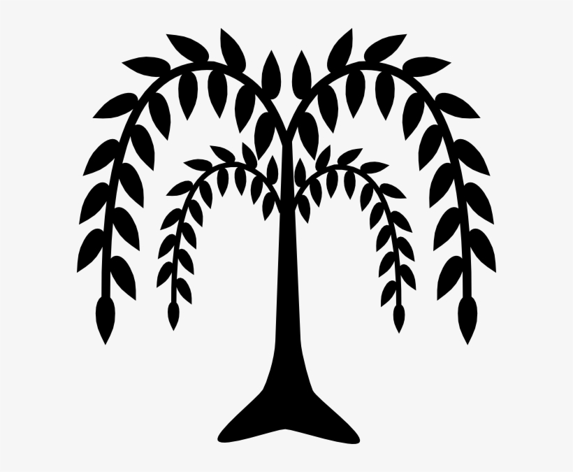 Weeping Willow Clip Art - Willow Tree Silhouette Png, transparent png #1043846