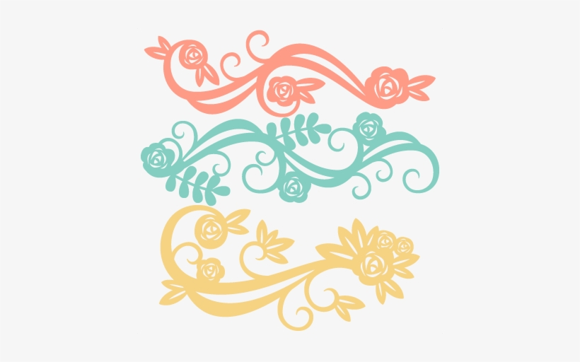 Flower Flourishes Svg Scrapbook Cut File Cute Clipart - Cute Free Svg Flowers Files, transparent png #1044067